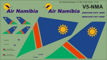Boeing 747-400 (Air Namibia, year 2000)  MAV144020