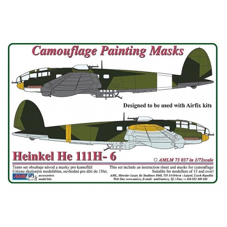 Camouflage Painting masks Heinkel He111H-6 (Airfix)  AMLM73037
