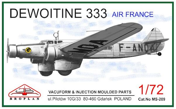 Dewoitine 333  (Air France)  MS-209
