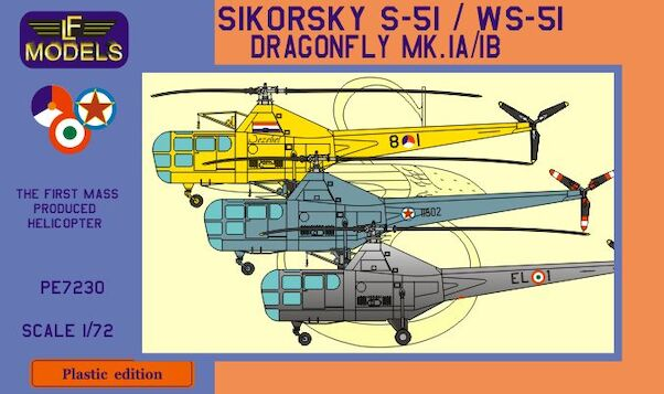 Westland Sikorsky WS-51 Dragonfly (Holland, Yugoslavia, Italy) BACK IN STORE!  PE-7230