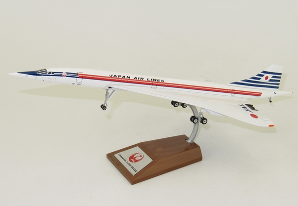 Concorde (Japan air lines) JA0557 with stand  WBCONC0816