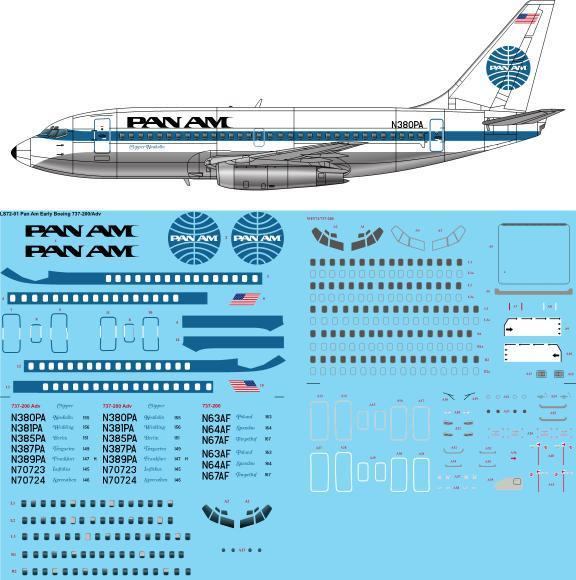 Boeing 737-200 (PanAm Early)  72-176