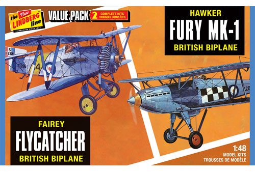 Fairey Flycatcher & Hawker Fury Value pack  HL441/12