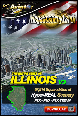 Mega Scenery Earth Version 3, Illinois V3 (Download version)  DL-MSEV3-IL