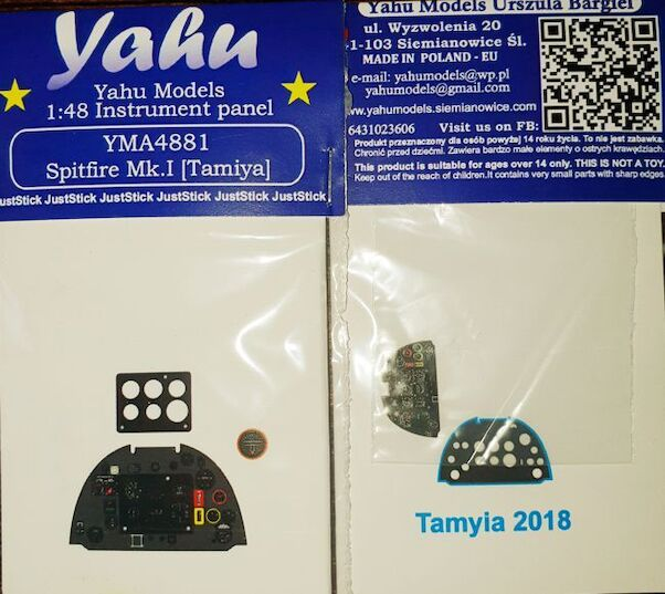 Instrument Panel Spitfire Mk.I (New Tamiya)  YMA4881