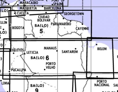 Low Altitude Enroute Chart South America SA(LO)5/6