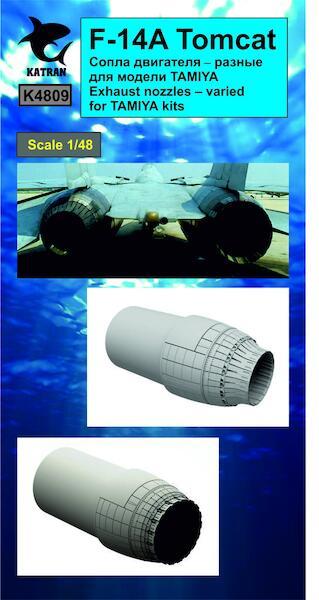 Katran Models K4809 F-14A Tomcat Exhaust Nozzles for Tamiya kits 1:48 varied