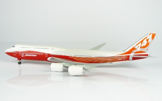 B747-8 (Boeing House Colors) Rollout Livery W/Stand Inflight  HG8874