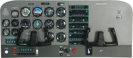 Cessna 172 Instrument Panel Construction kit  at3001