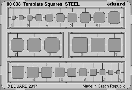 Template Squares STEEL  E00-038