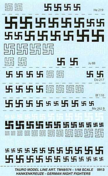 German Swastika's  (Night fighters)  48-574