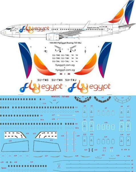 Boeing 737-800 (Fly Egypt)  144-893