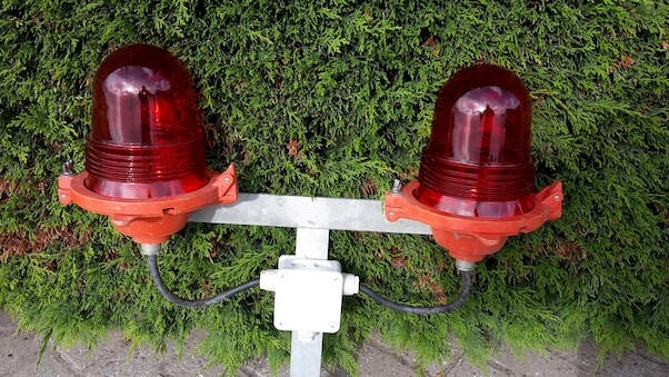 Original airport obstruction light, previously used at Schiphol Airport  OBS LIGHT RAW