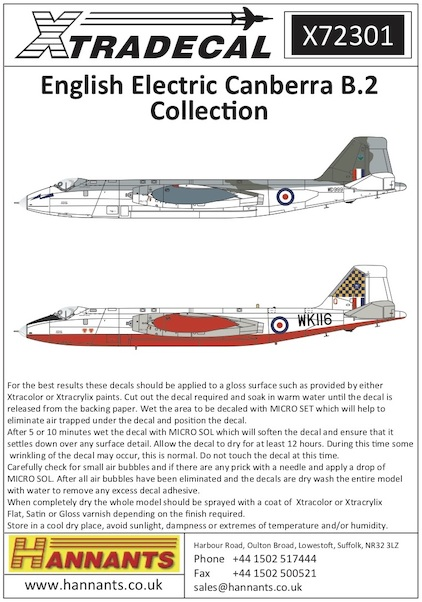 English Electric Canberra B2 Collection (6)  X72301