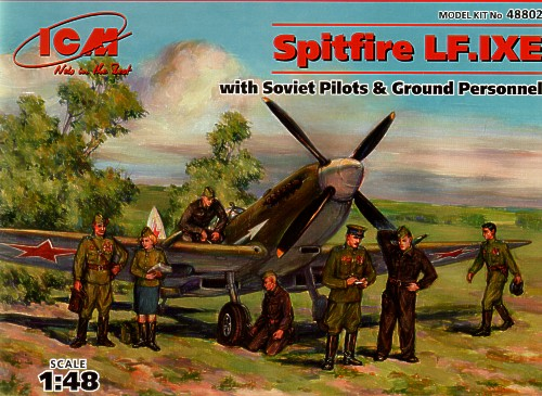 Spitfire LF IXe with Soviet Pilots and ground Crew set  48802