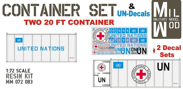 Container set: 2 UN 20ft Containers (UN Decals)  MM072-083