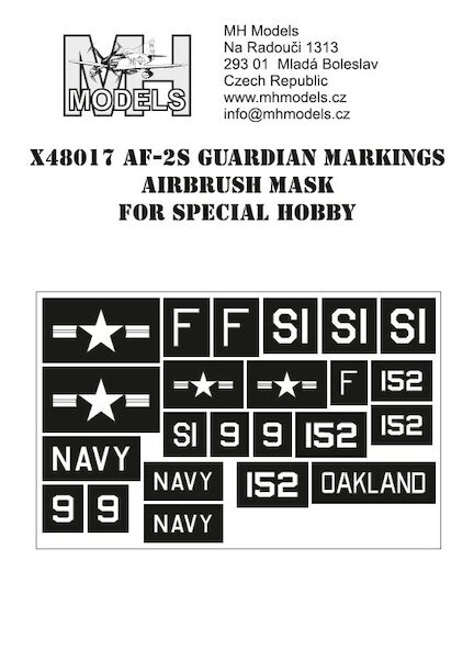 AF2S Guardian markings airbrush mask (Special Hobby)  X48017