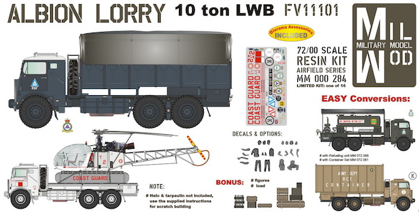 Albion Lorry 10 ton LWB Fv11101  with figures and load  MM000-284