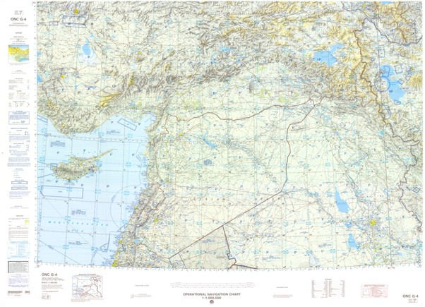 ONC G-4: Available: Operational Navigation Chart for Cyprus,Iran,Iraq,Israel,Jordan,Lebanon,Turkey. Available ! additional charts available within five working days. E-mail your requirements.  ONC G-4