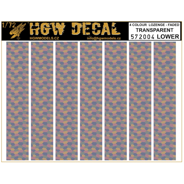 Four colour Lower Lozenge (faded) (transparent)  HGW572004