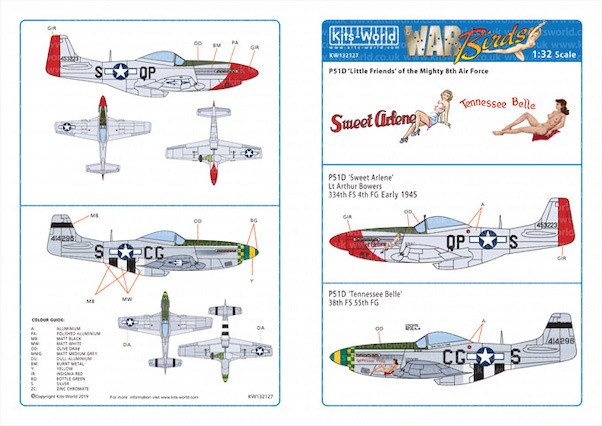North American P51D Mustang 'Little Friends' of the Mighty Eighth AF Vol 2  kw132127