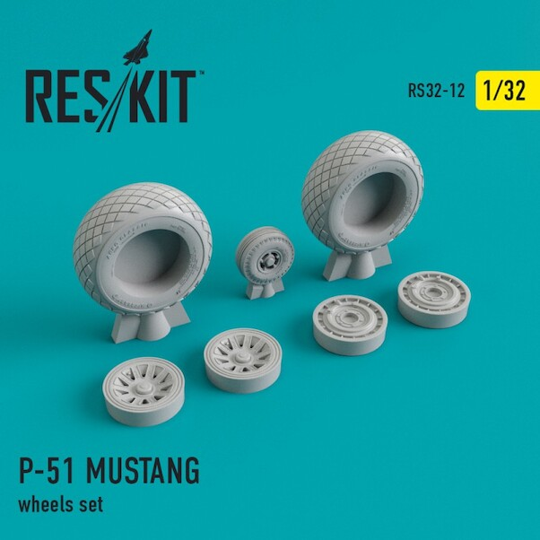 North American P51 Mustang Wheels set  RS32-0012