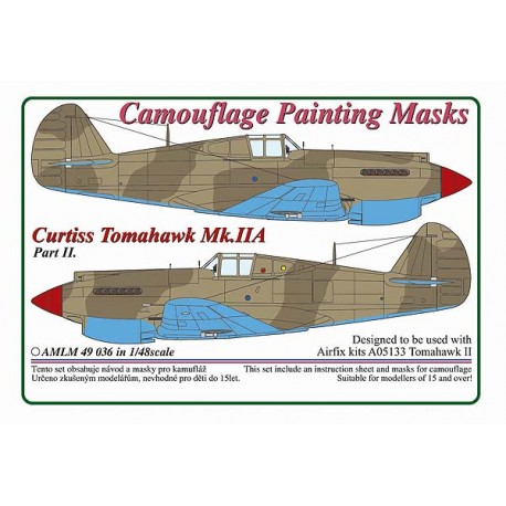Camouflage Painting masks Curtiss Tomahawk MKIIA part 2(Airfix)  AMLM49036