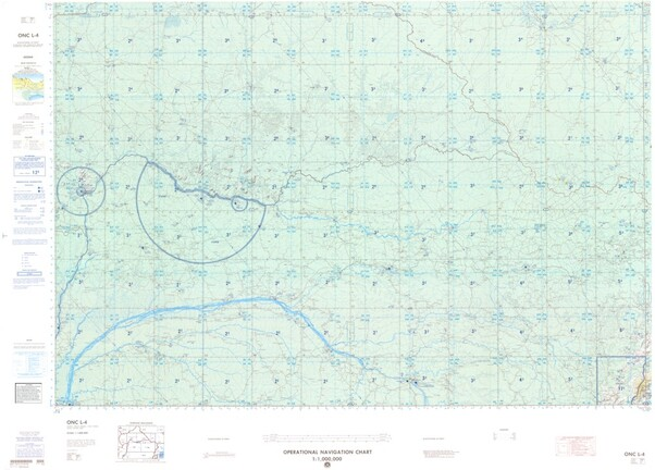 ONC L-4: Available: Operational Navigation Chart for Central African Republic, Congo, Sudan, Congo. Available ! additional charts available within five working days. E-mail your requirements.  ONC L-4
