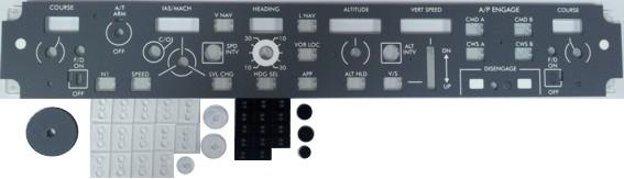 B737 MCP front panel (Opencockpits P738B02)