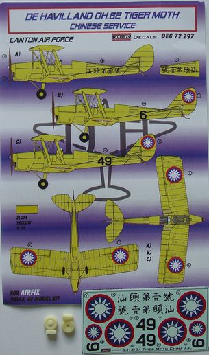 De Havilland DH82A Tiger Moth (Chinese Service) part 1; Canton Air Force  KDEC72297