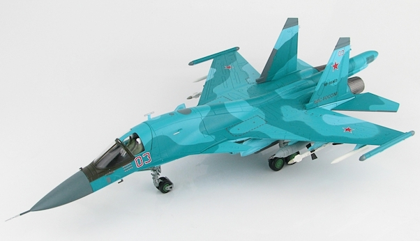 Sukhoi SU34 Fullback Fighter Bomber (Red 03, Russian Air Force, Syria, Jan 2015)  HA6301