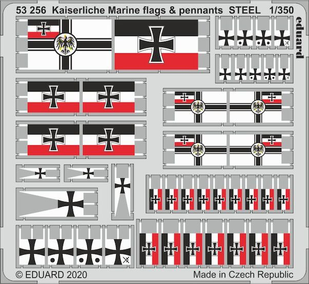 Kaiserliche Marine flags and Pennants (Steel)  E53-256