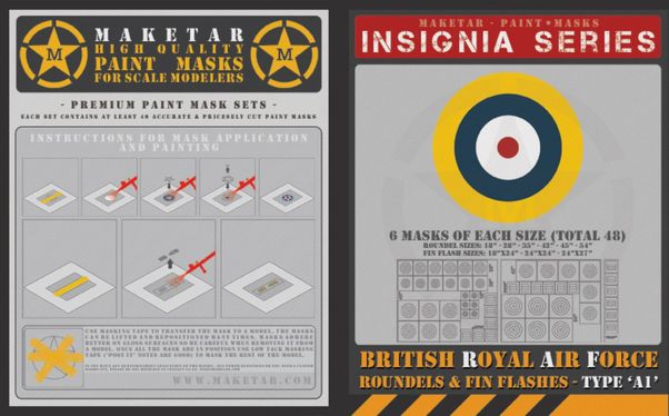 Royal Air Force Roundels Type A1 and Fin Flashes (48 roundels)  MM72009