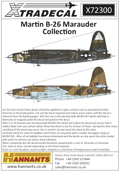 Martin B26 Marauder Collection (7)  X72300