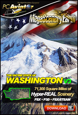 Mega Scenery Earth Version 3, Washington V3 (Download version)  DL-MSEV3-WA