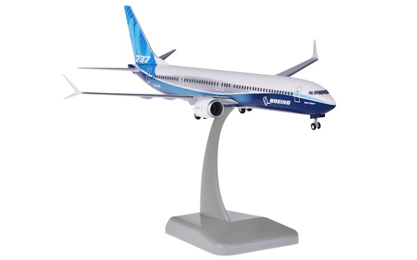 Boeing 737 MAX 10 Boeing House colors N8703J wit stand and gears  HG11243GR