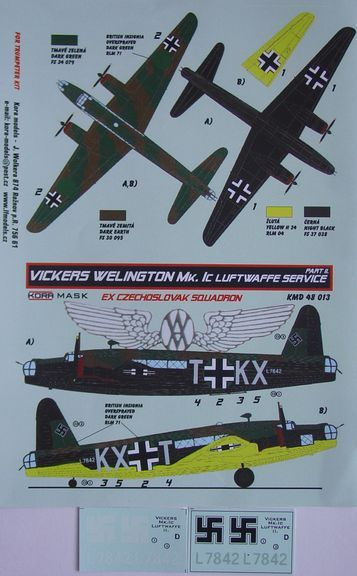 Vickers Wellington MK1c in Luftwaffe Service Part 2  KMD48013