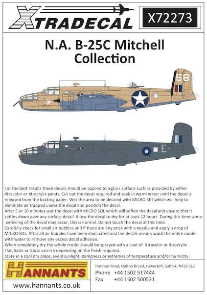 North-American B-25C Mitchell Collection  X72273