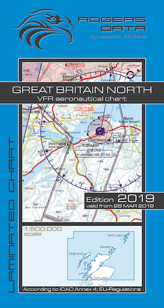 VFR aeronautical chart Great Britain North 2019  ROGERS-GB-N
