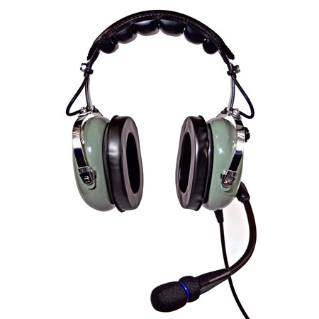 NicePower AN-1000AC Active noise cancelling General Aviation Headset (green)  AN-1000AC-GR