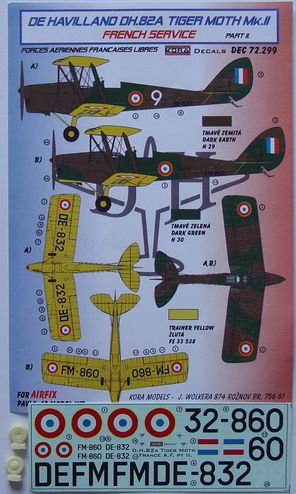 De Havilland DH82A Tiger Moth MKII (French Service ) part 2; Free French AF  KDEC72299
