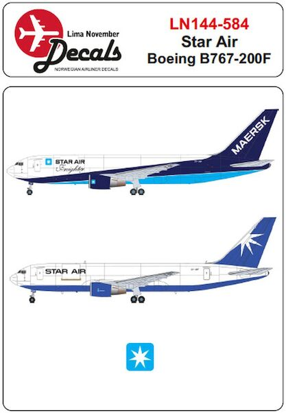 Boeing 767-200F (Star Air old and new scheme)  LN144-584