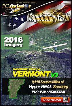 Mega Scenery Earth Version 3, Vermont V3 (Download version)  DL-MSEV3-VT