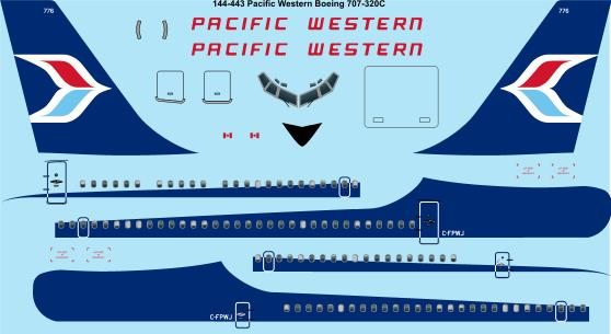 Boeing 707-320 (Pacific Western)  144-443
