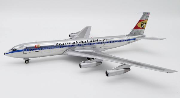 B707-300 (TGA Trans Global Airlines) N324F Polished With Stand  B-707-TGA01P