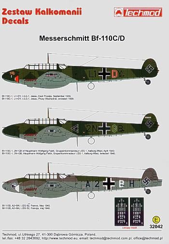 Messerschmitt BF110C Part 1  32042