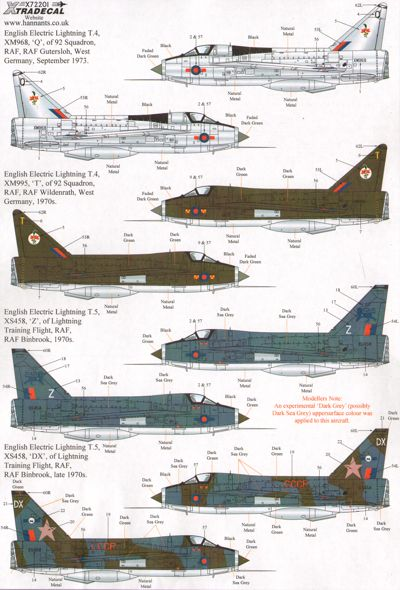 BAC/EE Lightning T.4/T.5 Part 2  X72201