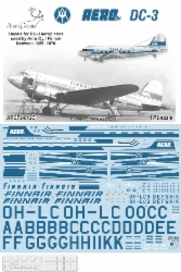 Douglas DC3 Dakota (Aero Oy / Finnair Later 1956-70) For Airfix 2015  ARC72-012C