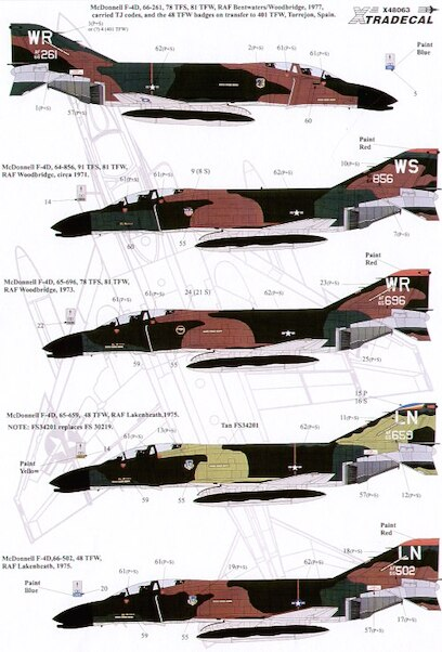 Xtra Decals 1//48 F-4D /& RF-4C PHANTOMS in England Part 2