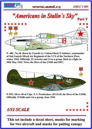 Curtiss P40C Tomahawk and P39N Airacobra Americans in Stalins sky part 5  AMLC3205
